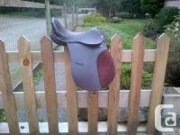 "16"" All-purpose dark brown English saddle. Used just"