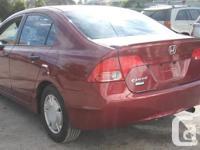 Make Honda Model Civic Year 2008 Colour Burgundy kms