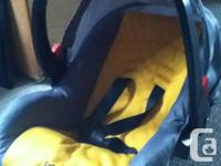 Carseat come with base so easy clip in and out of car.