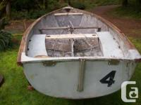 """14' 2"""" x 5' sailboat and trailer. Needs sanding and"""