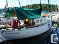 30 foot full keel sloop. Year develop: 1974. Sailboat