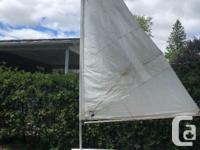 Refinished sailboat freshly painted everything. Painted