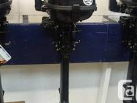"New 6 HP 4 Stroke Tohatsu  20"" Leg, Built in Gas tank"