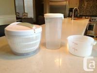 Salad Spinner & Tupperware Pasta Storage Container & 2