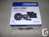 For sale is a set of Alpine SPX-17Pro Type-X 6 1/2""