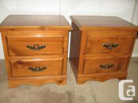 "1. 2 bedside tables. 2 cabinets. 23""x 22""x 18"". - $25"