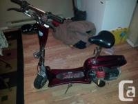 SALORR PORTABLE GAS SCOOTER/ELECTRIC START WORKS! NEED