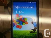 Samsung Galaxy S4 Black 16 gig  Locked To Koodo/Telus