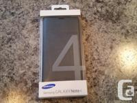 Brand new Samsung OEM Flip case for the Note 4. Silver