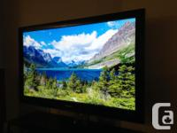 "SAMSUNG Plasma TV 50"" Model PN50A550S1FXZC No scratches"