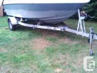 Hi i am selling my 16ft sangster with 85hp johnson/8hp