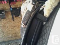 Black Santa Cruz dressage saddle, in great condition.