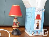 "This Santa lamp is 7"" and is made of durable"