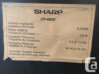 EXCELLENT CONDITION PAIR OF SHARP CP-8800 FLOOR