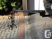 Saris bike rack carries 2 bikes and locks to your