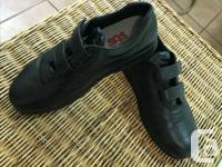 Rarely worn, excellent condition, black with velcro