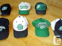 Seven Saskatchewan Roughriders Hats for Sale. Used, but