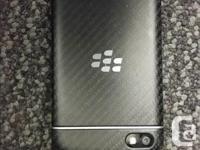 blackberry q10. Comes with a charger, usb cable and