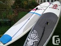 """11'2"""" Starboard blend and 10'10"""" Naish Alana both in"""