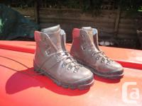 This is a pair of Scarpa Hiking boots in size 42 Eu (9