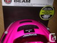 Schwinn Beam Women's Bike Helmet - Pink Rear light for