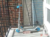 3 children's scooters, handle bars adjust for height,