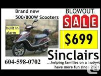 ELECTRIC SCOOTERS FROM $699 OR $25/MONTH - $699. Get
