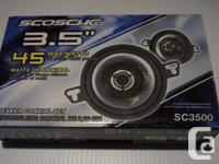 "This is a ""SCOSCHE"" 3.25"" Coaxial Car Speaker System"