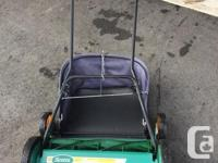 """Scotts 20"""" reel mower , get ready for the spring !!! in"""