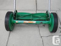 "Scotts Turf 14"" 5 Blade Push Mower, Works great, Good"