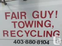 Fair Guy Towing will haul cars, truck, tractors, lawn