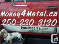 Will pay top cash for - scrap cars, vans, trucks and