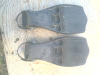 Scuba Pro fin's all rubber in good condition.These are