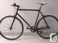 1 Speed Mens Black Road Bike  Description: