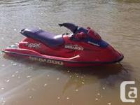This is an extremely fast sea doo! 70 mph !! The hull,