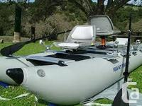 The 375fc Fold Cat inflatable two man pontoon fishing
