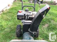 "Good condition Craftsman 9.0 HP 24"" Gas Powered Snow"