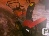 sears artisan snowblower 10 hp 28 inch cut, runs good,