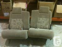 2 Back Seats for a 2001 Pontiac Montana  - Light Brown