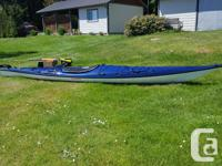 FG Seaward Tyee Touring Kayak with navy deck and white