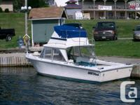 1973 Seawind fiberglass 24ft. boat with cuddy log