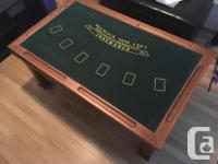 Is it a coffee table? Is it a casino? It's both! Up for