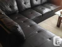 Offering sectional sofa by following ottoman for $700