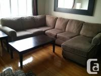 Hi,   I'm moving and so I'm selling my sectional sofa.