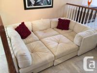 6 piece soft fabric Sectional Sofa - Non smoker, like