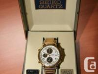 Seiko Analog Watch, Gold, motion 7T42.  Original owner,