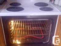 Kenmore Self Clean Stove .. white .. still being used