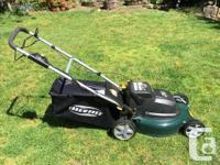 This is a Yardworks self propelled cordless electric