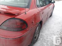 Make Pontiac Model Grand AM Year 2004 Colour Red kms