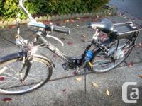 The step through bike is a Schwinn with new batteries